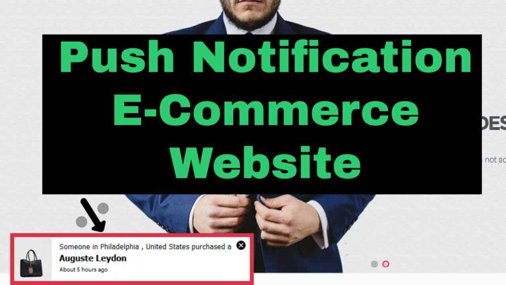 Notifications On WordPress Website Woocommerce