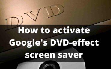 Google DVD effect
