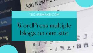 WordPress multiple blogs on one site